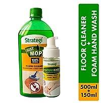 Herbal Strategi Floor Cleaner and Disinfectent 500ml, Foam Handwash 150ml (Pack of 2)