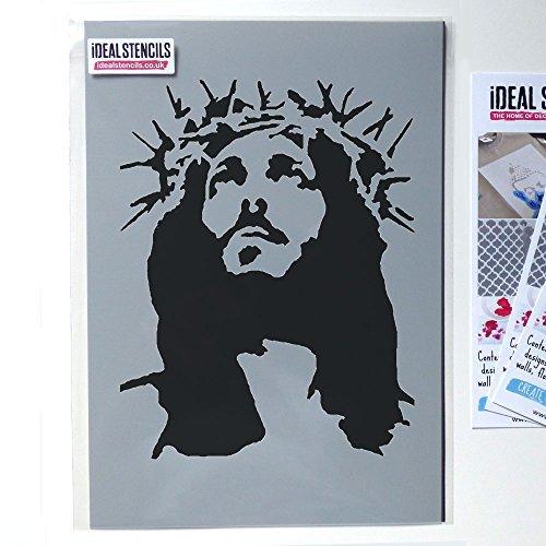 Jesus krone of stachel schablone, streichen wände stoff und möbel, wiederverwendbar kunst handwerk Ideal Stencils Ltd - S/17X20CM