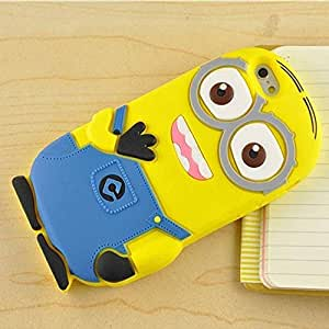 ACCMART (?) 3D Cartoon Minion Soft Rubber Silicone Back Case Cover For oppo f1s (only oppo f1s)-Yellows