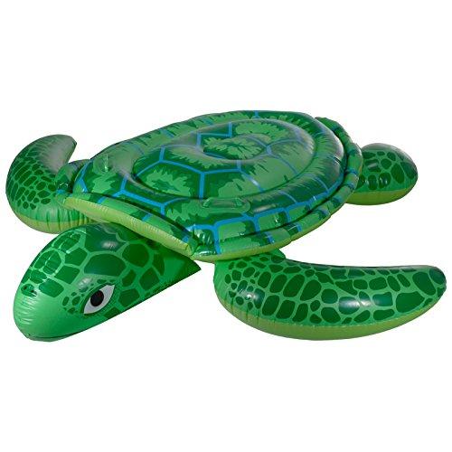 Aufblasbare XXL Schildkröte Turtle Schwimmtier Reittier Schwimmring Schwimmreifen Luftmatratze Schwimmsessel Schwimminsel für Pool Meer See