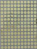 Farbcodierung Etiketten Gold ~ 10mm runde Punkt Aufkleber–inverschiedenen Farben Größe 1cmDurchmesser Klebepunkte 700 Vorteilspack von Royal Green
