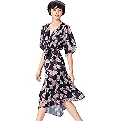 FIND 13605 vestidos mujer, Negro (Black Mix), 44 (Talla del Fabricante: X-Large)