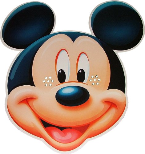 Disney's - Mickey Mouse - Card Face Mask
