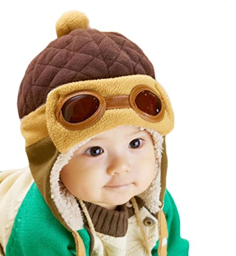 WITERY Unisex Bambini Bambino Cappelli Inverno Caldo Cappello Beanie di volo pilota aviatore Caps cappelli (Patterns Knit Bambini Cappelli)