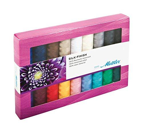 Mettler-Seide Finish Baumwolle Gewinde Geschenk Pack 1, mehrfarbig (Thread 100% Quilting Cotton)