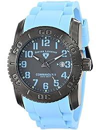 SWISS LEGEND 10068-GM-014BBLSA - Reloj para hombres, correa de goma color azul