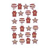 Healifty Lot de 30 feuilles de stickers de Noël pour calendrier de l'Avent avec chiffres 1 à 24 étiquettes en feuille d'or