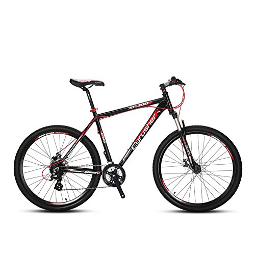 Europäische Lieferung extrbici XF305 24 Speed Shimano Gears 69,8 x 48,3 cm/53,3 cm Aluminium Legierung Rahmen Gabel Aufhängung mit Lockout MTB Non-Vibrato Mountain Bike Quick Release Rad Mechanische Dual Bremse, Bead Pedal cyrusher