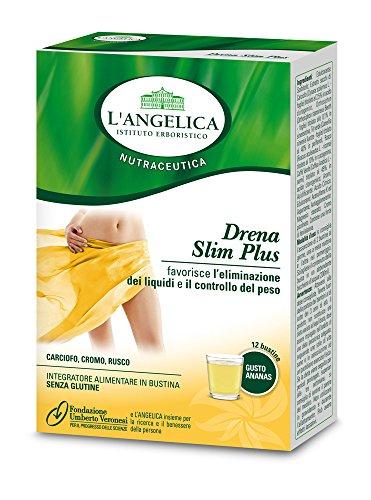 L'Angelica Bustine Drena Slim Plus, Pacco da 12 x 6.58 gr, Totale: 79 gr