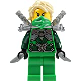 LEGO® Ninjago: Lloyd Garmadon (green ninja) Minifigure with shoulder armor and two katanas (swords)