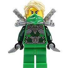 LEGO® Ninjago: Lloyd Garmadon (green ninja) Minifigure with shoulder armor and two katanas (swords)