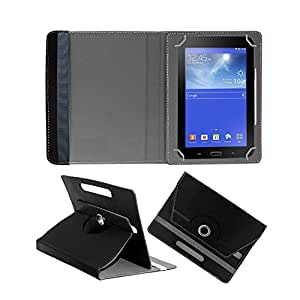 Fastway Rotating 360° Leather Flip Stand Cover For BSNL Penta T-Pad Ws707c -Black