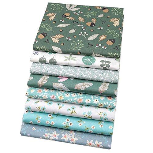 8 piezas de 40 cm x 50 cm, 100% tela de algodón para acolchar cojines de patchwork, almohadas, material de costura, álbumes de recortes, ropa de muñeca