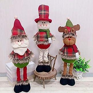 ADSIKOOJF Natal retráctil de pie 43-57cm Muñeca de Navidad Decoración de Navidad Gran Papá Noel Muñeco de Nieve Elk Muñeca Niños Regalo de Año Nuevo Juguete