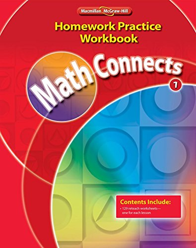 Math Connects, Grade 1, Homework Practice Workbook