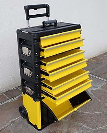 Metall Werkzeugtrolley XXL Type: 305BBBD -> jetzt neu mit Schubladenverriegelung und Schloss von AS-S
