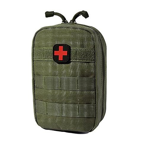 Sweetds Taktische Tasche Bauchtasche Gürteltasche, Multifunktions MOLLE Taktische Erste Hilfe Tasche Medizinische Notfalltasche