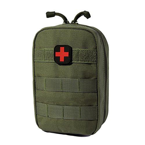 Erste Hilfe Sets, Aesy taktische molle beutel notarzt medizinische taille packen edc militärischer nutzen - tasche für outdoor - wildnis campen wandern (E) (Taschen Mehrere Offene)