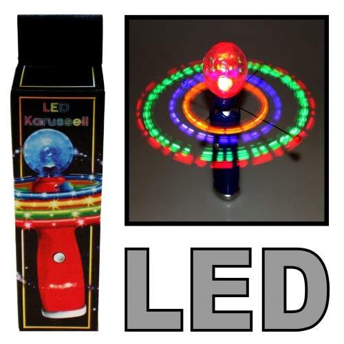 Schnooridoo 1 x LED Karusell mit Discokugel Partylicht Disco Karaoke