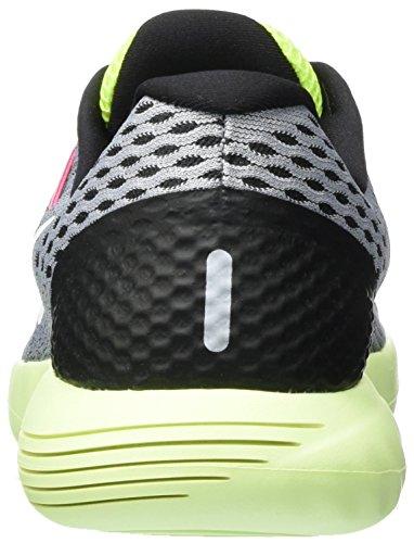 Nike Wmns Nike Lunarglide 8, Baskets Basses Femme Gris (Wolf Grey/white-volt-gamma Blue 017)