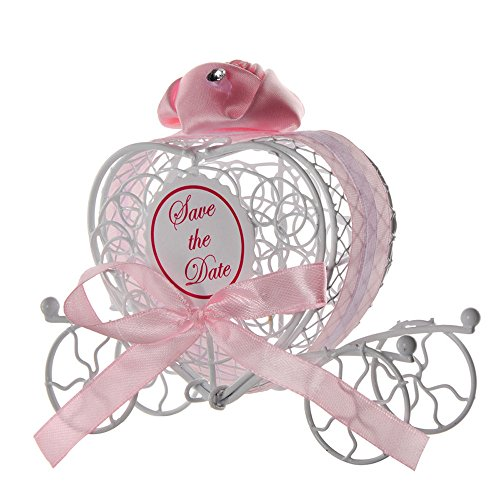 Dtuta Fliege Riemen Exquisite Kleine Romantische Schmiedeeisen Wagen SüßIgkeiten Pralinenschachtel Hochzeitsgesellschaft Voller MäDchen Herzen