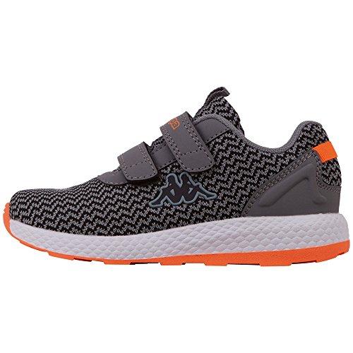Kappa Unisex-Kinder Result II Knit Sneaker, Grau (Grey/Black 1611), 33 EU