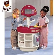 Little Tikes 414510060–Electrónica de Cocina y aprendizaje Diversión Cocina Cocina de juguete (con micro onda y teléfono Calidad juguete + Alimentos Set 41piezas