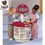 Little Tikes 414510060-Cucina giocattolo elettronico Piano di cucina e imparare divertendosi con microonde e cellulare qualità giocattolo + alimentare Set 41pezzi