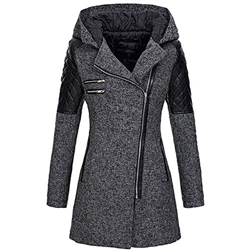 OIKAY Winter Outwear Hooded Zipper Mantel Damen Warm Slim Jacke Dicke Parka Mantel Jacke