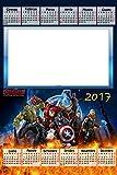 Calendario Personalizado 2017con 1foto, Art.390Marvel Avengers, tamaño 30x 45completo de encuadernar y Gancino de pared.