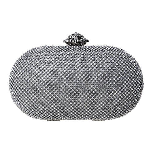 taschen Gehobenen Kleider Abendpacks Mode Gehobenen Luxus Mini Umhängetasche,Silver-OneSize (Gehobene Kleid)