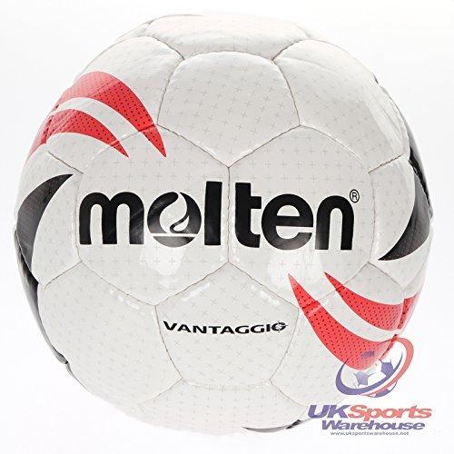 Molten VANTAGGIO 2League Standard Fußball Gr. 4Junior/Youth RRP £20, Weiß / Schwarz / Rot -