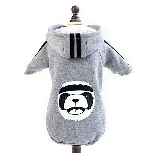(smalllee_lucky_store Warm Fleece Kleiner Hund Kleidung Panda Hoodie Sweatshirt Jacke Mantel Kostüm Haustier Kleidung Bekleidung)