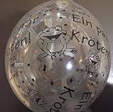 DeCoArt…... 5 Latexballons Luftballons Neck up Geldgeschenk Ein Paar Kröten naturell ca 13 cm Nicht ballongas Geeignet