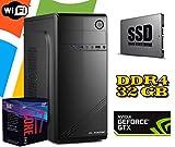 PC Computer FISSO AGM i7-9700 DESKTOP / RAM 32GB DDR4 / Nvidia GTX1050 2GB / SSD 480GB - Hard Disk 1TB / WI-FI/LICENZA WINDOWS 10