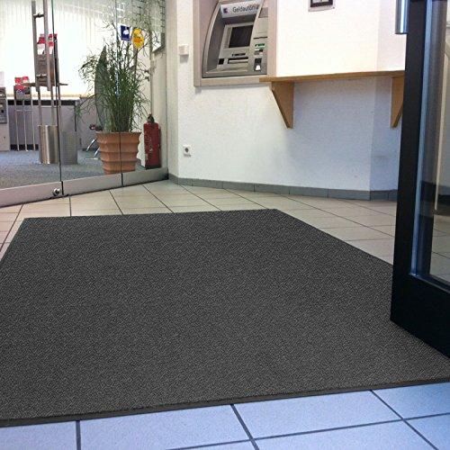 etm® Schmutzfangmatte - Note 1,6: Sieger Preis-Leistung - Fußmatte in vielen Größen - Fußabstreifer für Haustür innen und außen (Anthrazit-Schwarz, 60x90 cm) - 3