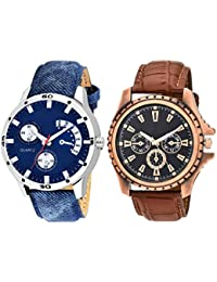 Scarter Combo Of 2 Analog Watch For Boys And Mens- S-206-208
