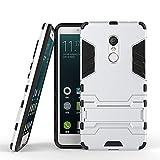 Hülle für Xiaomi Redmi Note 4 / Redmi Note 4X (5,5 Zoll) 2 in 1 Hybrid Dual Layer Shell Armor Schutzhülle mit Standfunktion Case (Silber)