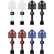 Paquetes de elástico cordones de bloqueo para correr y triatlón imestore - 2 SETS BLACK AZMMIf8eG