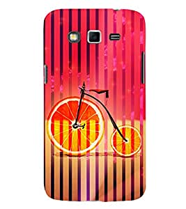 Orange Cycle 3D Hard Polycarbonate Designer Back Case Cover for Samsung Galaxy Grand Neo :: Samsung Galaxy Grand Lite