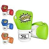 SKL Kinder Boxhandschuhe Sparring Boxhandschuhe Muay Thai Boxsack Training Boxhandschuhe Herren Sparring Training Kickboxen Sandsack.