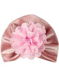 Mitlfuny Sombreros de Bebé Invierno Caliente Recién Nacido Flor Suave Gorro  de Turbante de Dorado de 44ec5e6b9b9