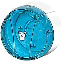 Palex Mini o Jumbo - Dispensador de rollo de papel higiénico, color azul transparente,