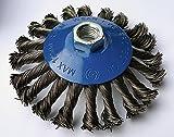 Lot-de-2-brosses-Cone-fil-115-mm-gezopfte-poncage-Brosse-M14-x-2-Brosse-met