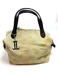 3f16190f49d76 Luca Lorenzo Damentasche - Henkeltasche Women Bag - Echtleder Tasche -  Beige- Art. 352311