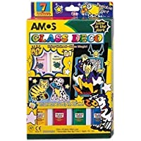 Amos Peelable Glass Paints Glow In The Dark Set Pk7