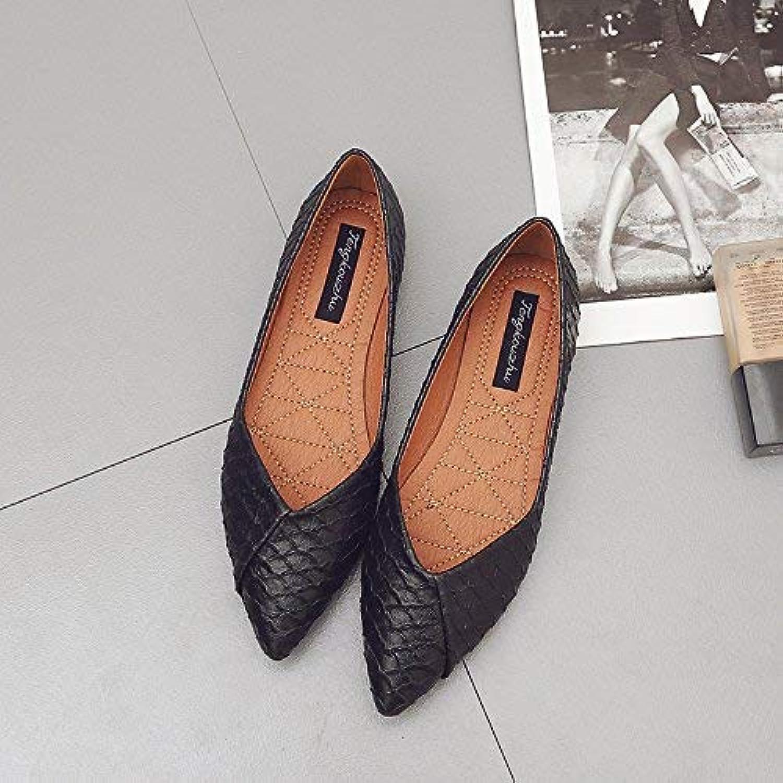7063f6485b600c Eeayyygch Escarpins Escarpins Pointus Pointus Pointus à Bout Plat  avec des Chaussures Simples Quatre Chaussures pour Dames Chaussures.