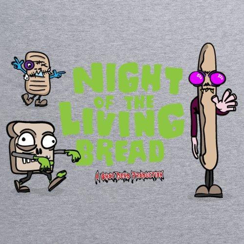 Night Of The Living Bread T-Shirt, Damen Grau Meliert