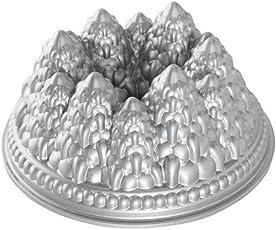 Nordic Ware - Backform, Kuchenform - Weihnachtsbackform - Tannenbäume, Winterwald - Aluminiumguss