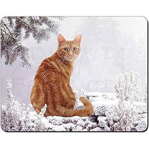Jengibre nieve del invierno del gato Estera del ratón del ordenador regalo de Na